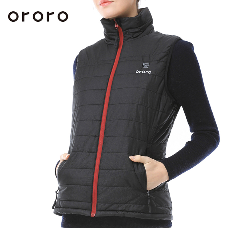 Ororo Women Down Vest Electric Battery Heated Sleevless