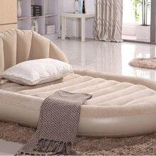 Овальный двойной надувной матрас кровати отдыха спинки спальный Открытый путешествия утолщение новая YS-32
