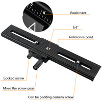 Tripod Head LP 02 Metal Macro Focus Rail Slider Plate For DV Mini Camcorder D610 D800