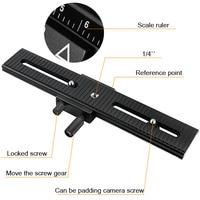 Treppiede Testa LP-Metallo Macro Fuoco Ferroviarie Slider Plate Per DV Camcorder Mini D610 D800 D800E D4 D7000 D7100 DSLR fotocamera