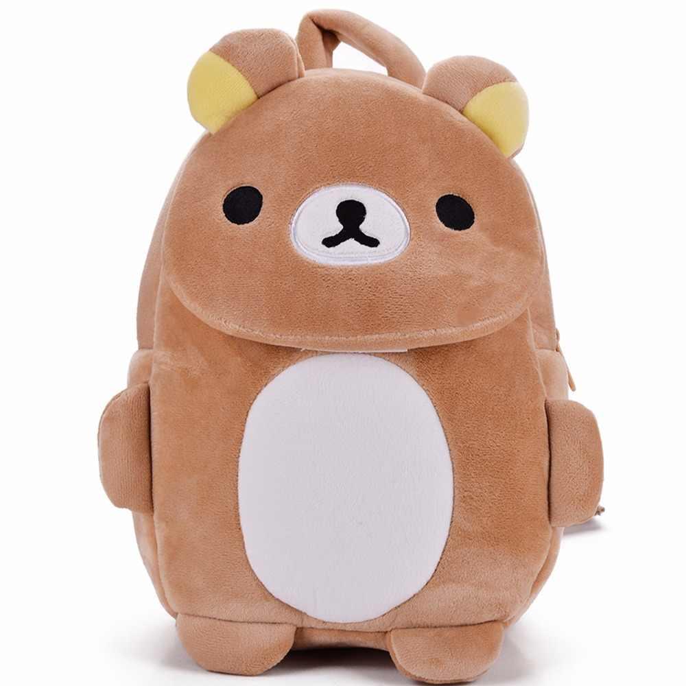 Japan Relax Bear Backpack Plush Kindgarden Kids Tablet Shoulder Backpack  Flap Design School Bag 17  264a55b2cdc3e
