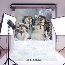 Fotografie Kulissen Weihnachten Schneemann Schwere Schnee Kinder Erwachsene Frohe Weihnachten Porträts Foto Hintergrund