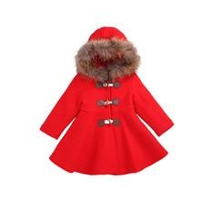 Шерстяное пальто для девочек Детская Толстая куртка детская верхняя одежда для девочек Новая детская длинная куртка