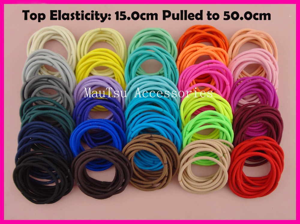 113PCS 13mm Top Elasticity Assorted Colors Elastic Ponytail Holders ...