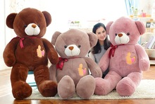 large plush high quality teddy bear toy big bow teddy bear doll gift about 130cm177