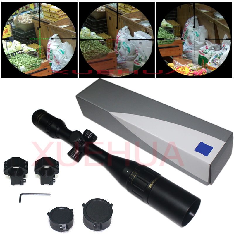 Hot New 4-16X40 AOMC Outdoor Hunting optics Riflescope illuminated Tactical rifle scope with 11mm or 20mm mount hot sale 2 5 10x40 riflescope illuminated tactical riflescope with red laser scope hunting scope