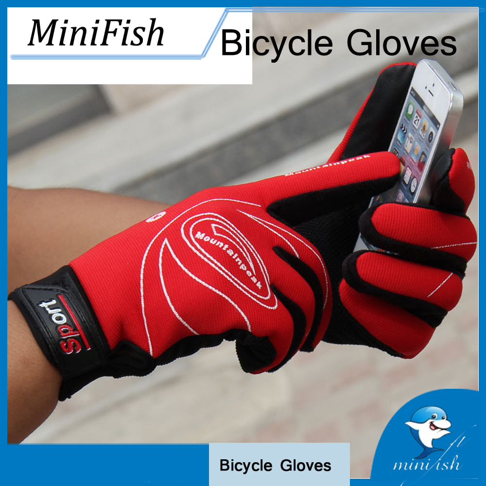 High quality Full Finger Bike Bicycle Motorcycle Gloves Windproof Outdoor Sports Touch Screen Professional Cycling Gloves outdoor sports full fingers skiing cycling gloves black size l pair