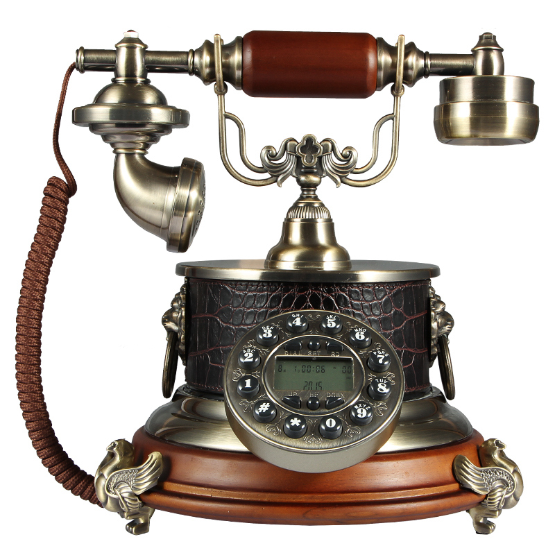 Free Shipping Antique Phone Chinese Solid Wood Telephone Seat Phone Antique Phone Retro Phone Home