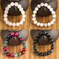 High Quality Various Colors rhinestone Lava stone Natural Stone Bead Bracelet For Women And Men Gift