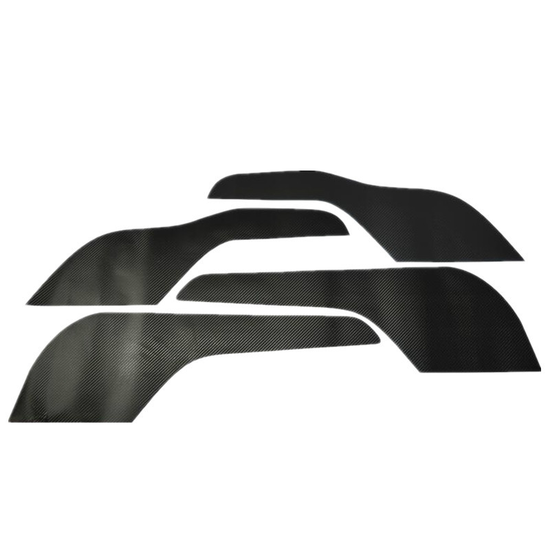 4 Pcs/Set Car Styling Kick Protection Carbon Fiber Vinyl Stickers for Ford for New Mondeo 2013 2014 2015 Accessories