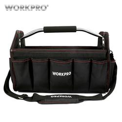 Bolsa de herramientas plegable WORKPRO 16 600D bolso de hombro bolso de mano organizador de herramientas bolsa de almacenamiento