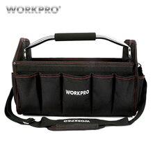 WORKPRO 16 600D Foldable Tool Bag Shoulder Handbag Organizer Storage