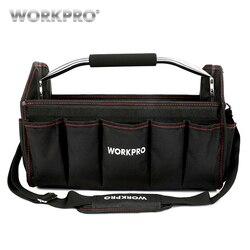 WORKPRO 16 600D plegable bolsa de hombro bolsa bolso herramienta organizador bolsa de almacenamiento