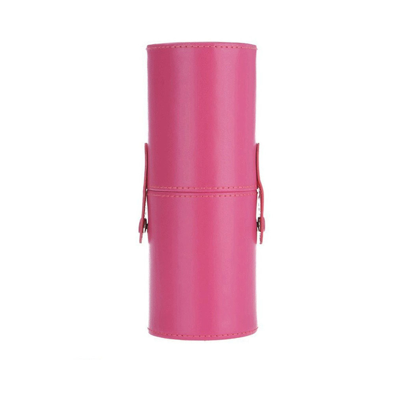 8 Colors (Empty Portable) Makeup Brush Round Pen Holder Cosmetic Tool PU Leather Cup Container Solid Case pincel maquiagem empty death