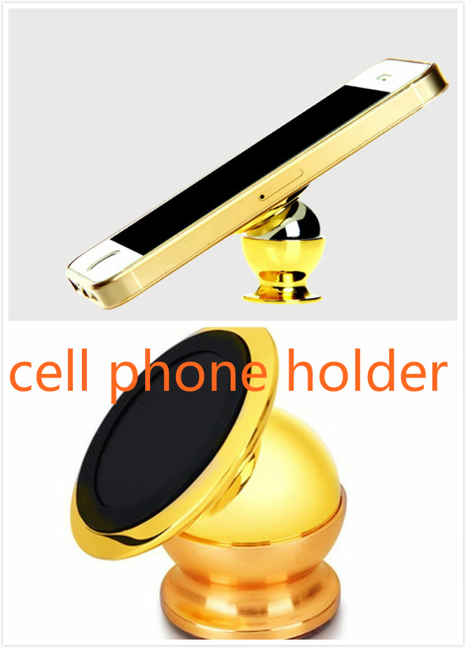 2pcs Universal <font><b>Cell</b></font> <font><b>Phone</b></font> Powerful magnet Support 360 Degree Rotation Car Dash Holder Stand Mount for <font><b>Phone</b></font> in Car Truck Boat