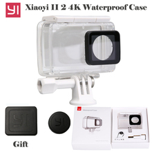 Waterproof Diving Case Xiaoyi yi 4K 2 Housing Case for Original Xiaomi YI 4K Sports Camera Xiaoyi II 2 4K Camera accessories international xiaomi yi 4k plus action camera 2 19 ambarella h2 for sony imx377 12mp 155 degree 4k sports camera touchscreen