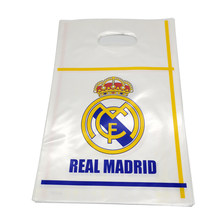 Real Madrid Football Team Theme Plastic Loot Bags Happy Birthday Party Decoration Baby Shower Kids Boys Favors Gifts Bags 10PCS(China)