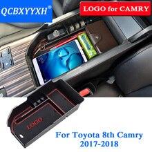 QCBXYYXH автомобиль-Стайлинг подлокотник коробка для хранения в центральной консоли контейнер лоток держатель для Toyota Camry 2018 2019 корпус автомобиля organizer (ОРГАНАЙЗЕР)