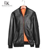 Genuine Leather Mens Jacket Cow Skin Designer Jacket Dusen Klein Nature Sheepskin Simple Slim Fashion Male