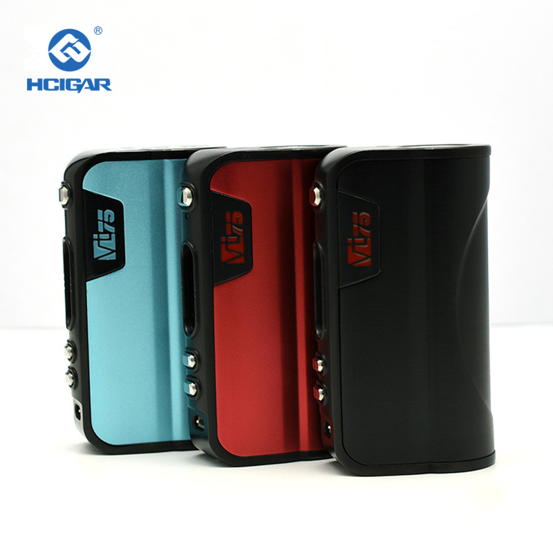 Authentic HCigar VT75 Box Mod 75W TC VW APV Mod Evolve DNA75 Chip 26650 /18650 battery Electronic Cigarette Mod original hcigar vt75 nano box mod e cigarette vape 75w temperature control fit for evolv dna75 chip electronic cigarette mod