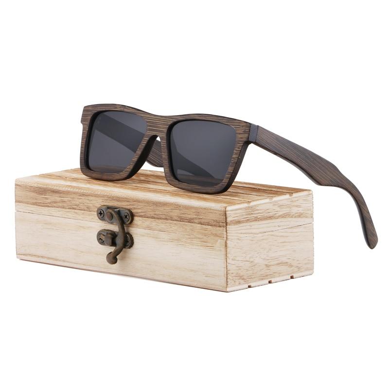 BerWer 2019 Ny mode Bambus solbriller Mænd Træ solbriller Kvinder - Beklædningstilbehør