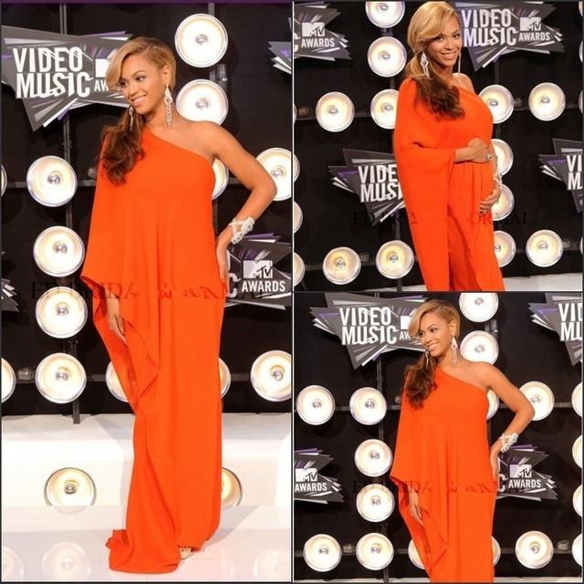 New Arrival Beyonce Dress One Shoulder Formal Dress Orange Dubai