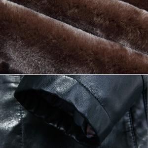 Image 5 - Holyrising inverno plutônio jaquetas de couro casaco de pele masculina com capuz falso jaquetas de couro engrossar casaco de inverno dos homens mais tamanho 3xl 4xl 18296