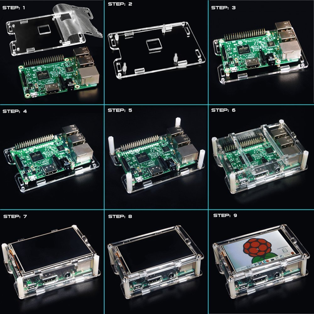 """Image 5 - Best Price Original 3.5"""" LCD TFT Touch Screen Display for Raspberry Pi 2  / Raspberry Pi 3 Model B Board + Acrylic Case +Stylusdisplay for raspberrydisplay for raspberry piscreen display -"""