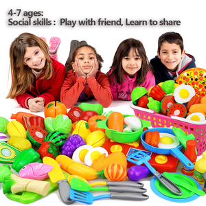 Image 5 - 12 23PCS Children Kitchen Pretend Play Toys Cutting Fruit Vegetable Food Miniature Play Do House Education Toy Gift for Girl Kid