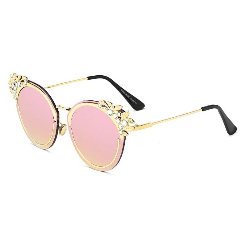 Mincl Donne Di Decorativi Occhiali Solare Specchio Protezione Da clear Signore Nuovi gray Yxr blue Sole Tendenza Diamanti Modo pink Red sexy rwrqIF
