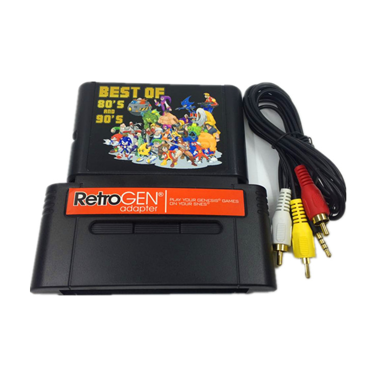 FOR RetroGEN Let You Play Sega Gensis Game Cartridge On For SNES Console With 196 In 1 Classic Games