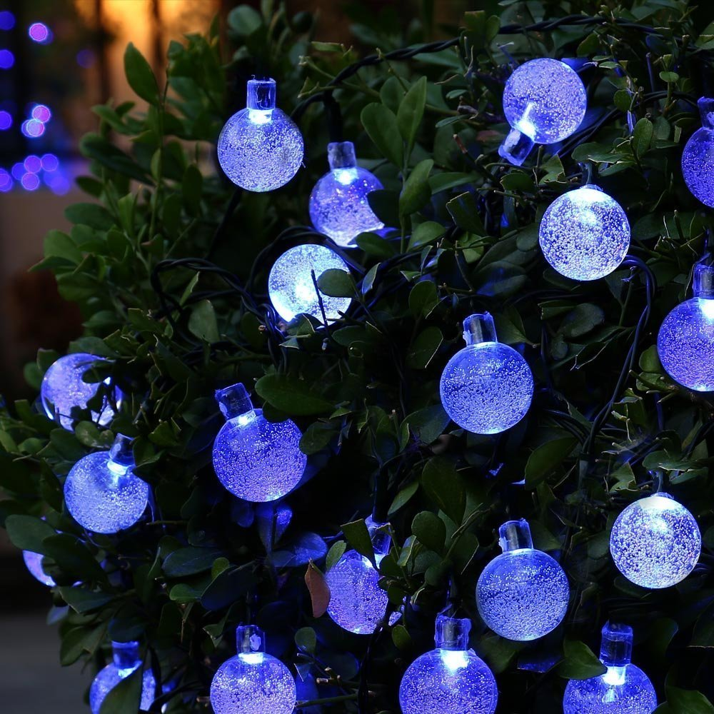 Solar Powered String Lights Patio Holigoo solar outdoor crystal ball string lights 20ft 30 led light holigoo solar outdoor crystal ball string lights 20ft 30 led light string globe garland lamp for christmas wedding decoration in lighting strings from workwithnaturefo