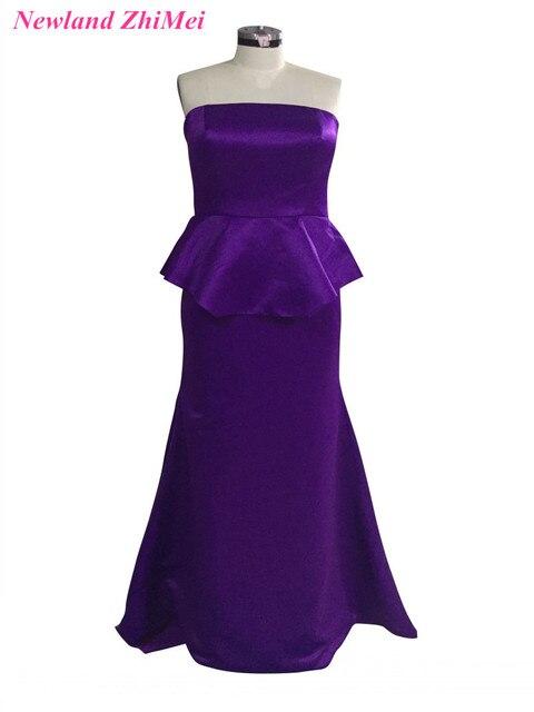 Aliexpress Buy Plus Size Purple Prom Dresses Simple Design
