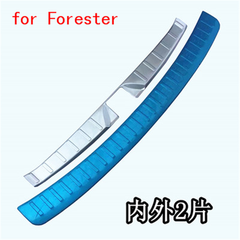 Car-covers stainless steel Rear Bumper Protector Sill Trunk Tread Plate Trim fit for Subaru Forester 2010-2017 Car cover