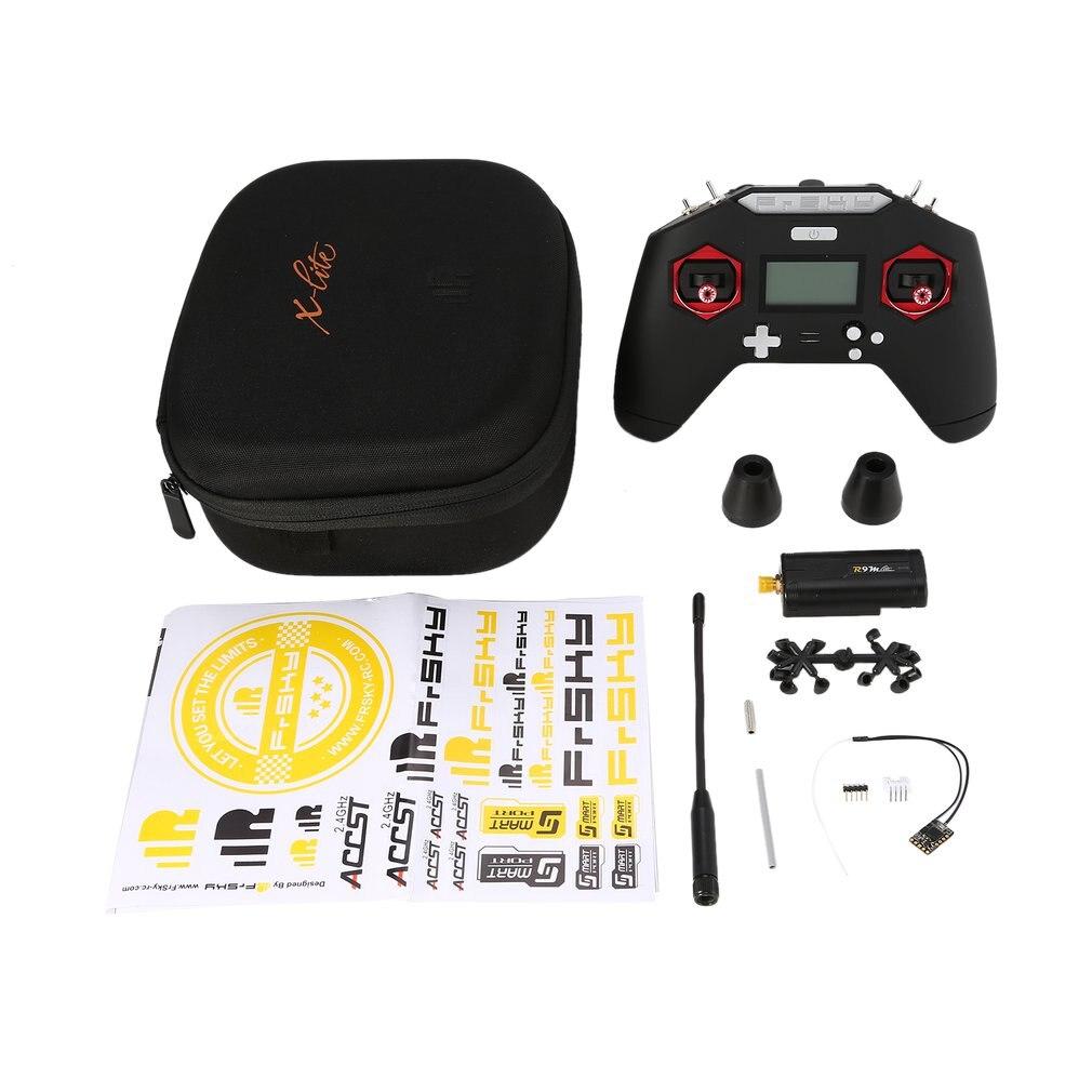 FrSky 2.4 GHZ 16CH Taranis X-LITE X Lite Transmetteur télécommande + R9m Lite Module + R9MM Récepteur pour FPV RC drone de course Partie