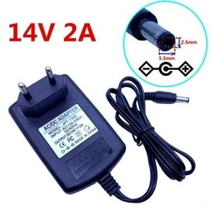 Image 5 - 14V 2A uniwersalny AC 100V 240V Adapter DC zasilania 14V 1.5A 2A 28W transformator zasilacz podróżny ścienne zmieniarki 5.5*2.5mm