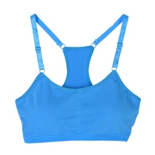 Outdoor Running Women Sexy Bra Solid Color Steel Running Word Back Bras