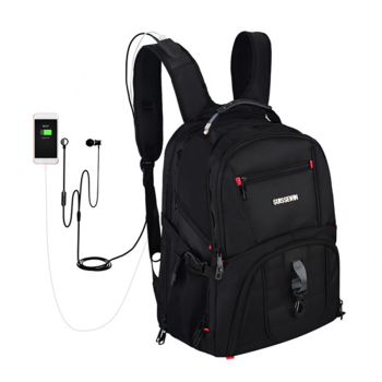 Swiss 17 inch laptop business sac a dos Laptop Backpack gear earphone quality men male Waterproof backpacks Colleage mochila