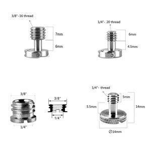 """Image 4 - Tornillos de fijación para cámara Adaptador convertidor de tornillos para cámara 8 tipos 1/4 """" 20 & 3/8"""" 16 hilos 1074 Placa de liberación rápida macho a hembra 8PC"""
