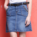 Americana de mezclilla falda corta Mini Faldas de Cintura Alta Falda Corta pantalones vaqueros Saia falda delgada de la cadera femenina falda lápiz Más El Tamaño XXL