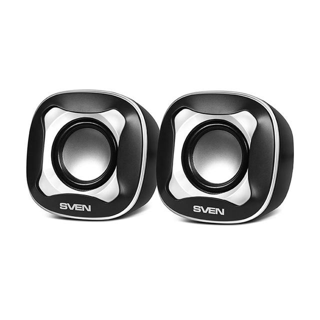 Колонки пластмассовые 2.0 AC SVEN 170, чёрный-белый (5 Вт, питание USB)