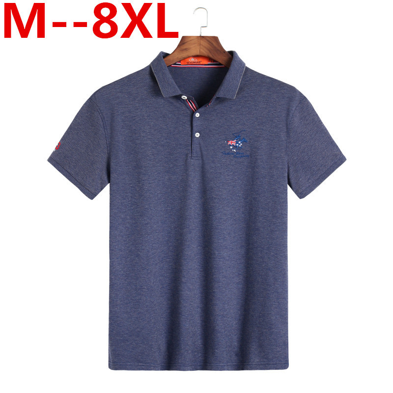 10XL 8XL 6XL 5X Brand clothing New Men   Polo   Shirt Men Business & Casual solid male   polo   shirt Short Sleeve breathable   polo   shirt