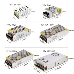 Image 2 - lighting  Transformer 12V Switching Power Supply Adapter 15W 24W 60W 120W 360W Aluminum for LED Strip Light Ribbon Linghting.