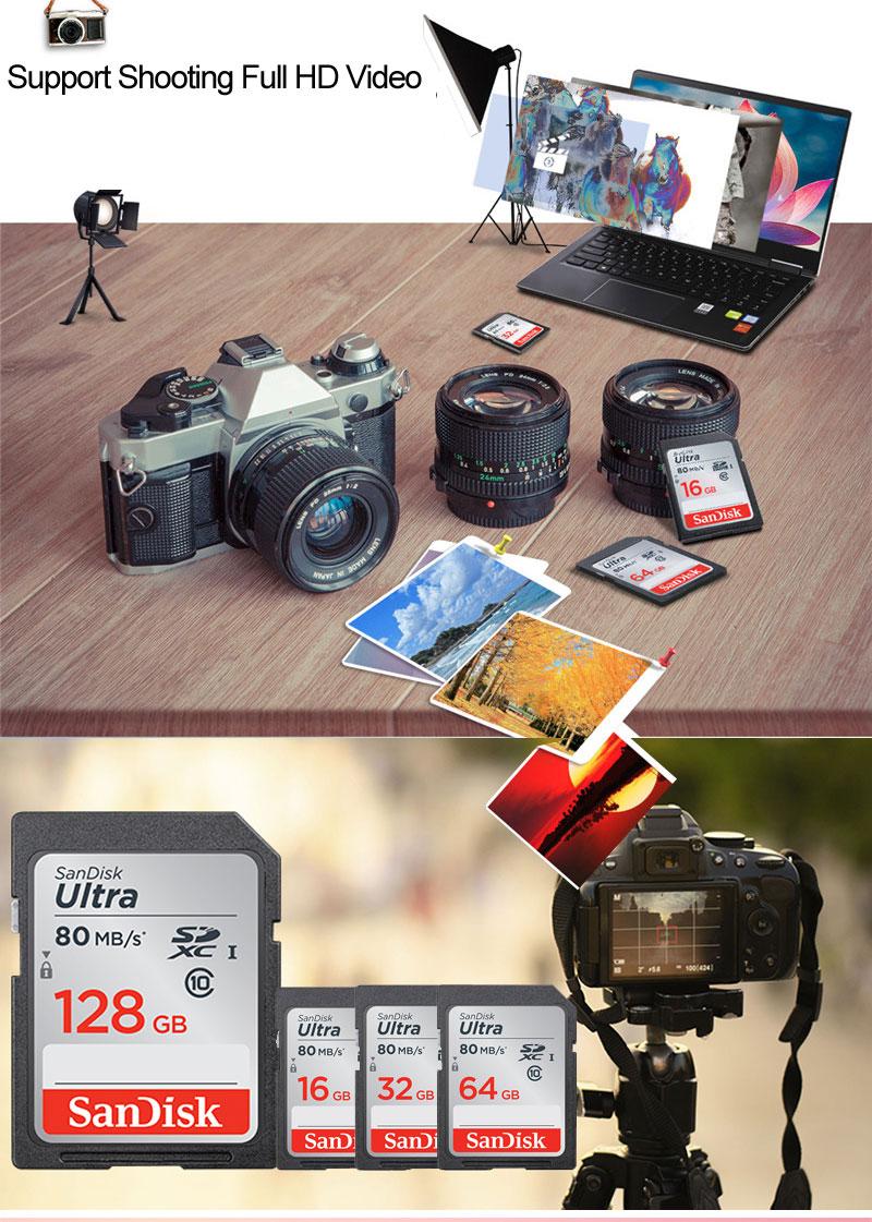 Sandisk Ultra Sd Card 16gb 32gb Sdhc Memory 64gb 128gb Sdxc Class 10 Uhs 1 80mb S Sd80mb 01 02 03