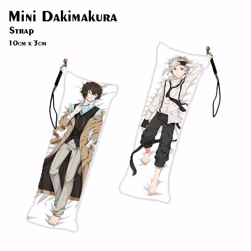 Bungou Stray Dogs Dazai Osamu & Atsushi Nakajima Mini Dakimakura Anime Izumi Kyouka Keychain Phone Strap Bag Hanging 3*10cm