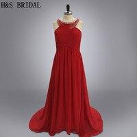 2017 New arrival Designer plus size red shiny sequins elegant Halter backless evening party dress chiffon long evening dress