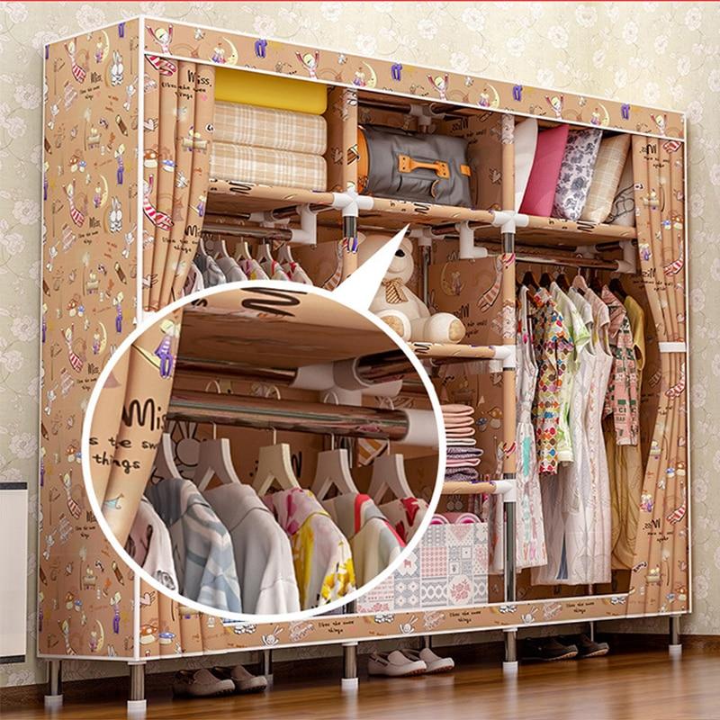 2018 meubles de rangement quand le quart garde-robe bricolage Non-tissé pli Portable armoire de rangement chambre meubles garde-robe chambre - 3