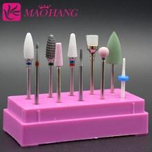 MAOHANG 10 шт./компл. tungsten стальной карбидовый cermaic фреза фрез для маникюра/педикюра наборы электрическая дрель педикюр машина для гелевых ногтей