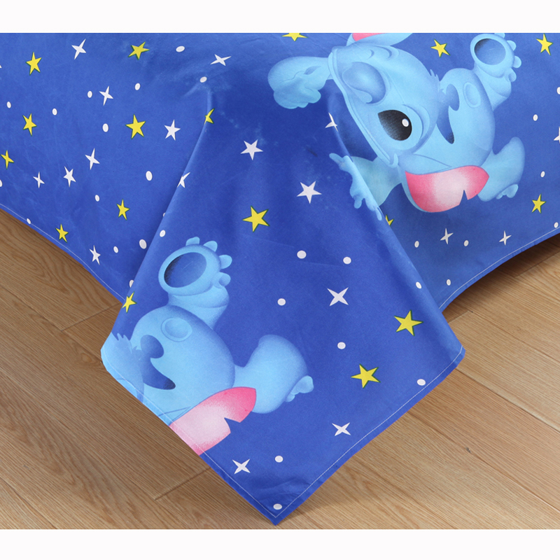 Disney Lilo and Stitch Bedding Set 3/4 Pieces Blue Comforter Cover 3D Children Bedroom Decor for 1.5m Bed 6