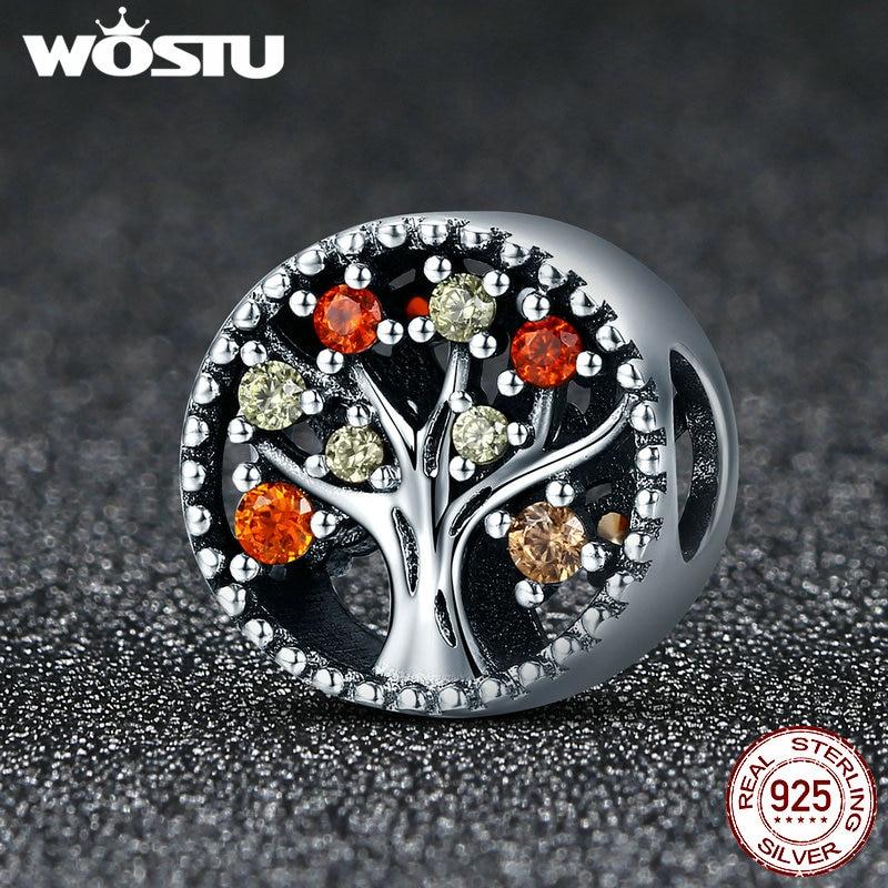 Image 5 - WOSTU 925 Sterling Silver Autumn Genuine Tree of Life Fruitful Autumn Beads fit original wst Charm Bracelets Jewelry DXC219tree of life beadbead treesilver charms beads -